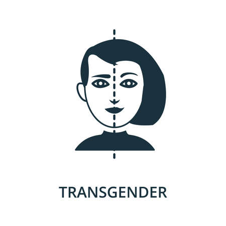 Transgender icon from plastic surgery collection. Simple line element Transgender symbol for templates, web design and infographics 矢量图像