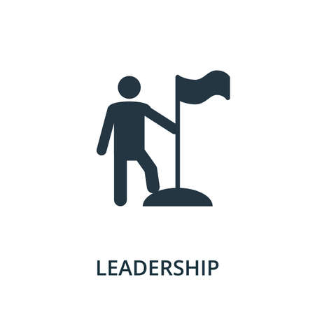 Leadership icon from reputation management collection. Simple line element leadership symbol for templates, web design and infographics.