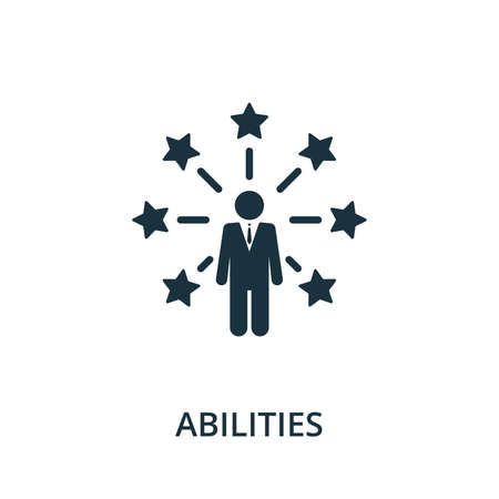 Abilities icon from reputation management collection. Simple line element abilities symbol for templates, web design and infographics. Ilustracja