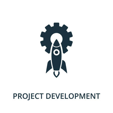 Project Development icon from reputation management collection. Simple line element project development symbol for templates, web design and infographics. 矢量图像