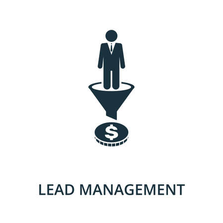 Lead Management icon from reputation management collection. Simple line element lead management symbol for templates, web design and infographics. 免版税图像 - 148736121