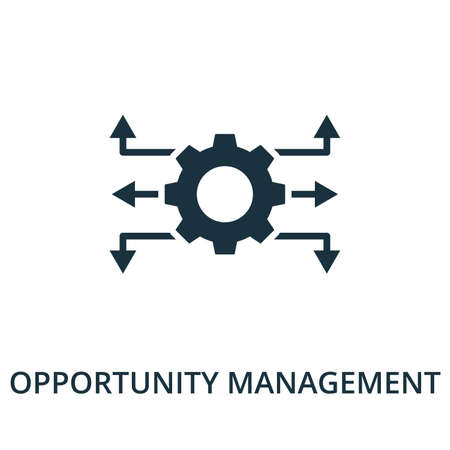 Opportunity Management icon from reputation management collection. Simple line element opportunity management symbol for templates, web design and infographics.