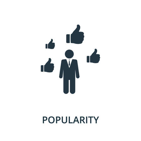 Popularity icon from reputation management collection. Simple line element popularity symbol for templates, web design and infographics. 免版税图像 - 148736128