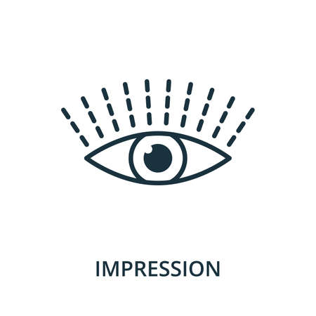 Impression icon from reputation management collection. Simple line element impression symbol for templates, web design and infographics.