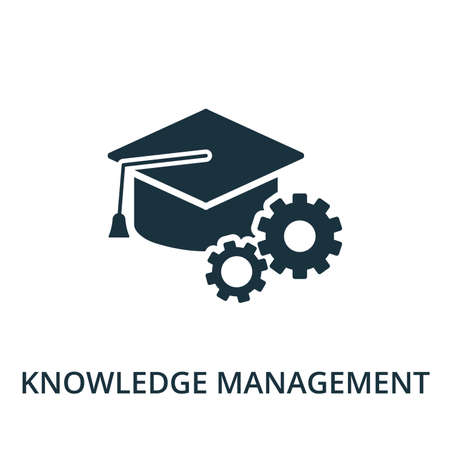 Knowledge Management icon from reputation management collection. Simple line element knowledge management symbol for templates, web design and infographics. 免版税图像 - 148736123