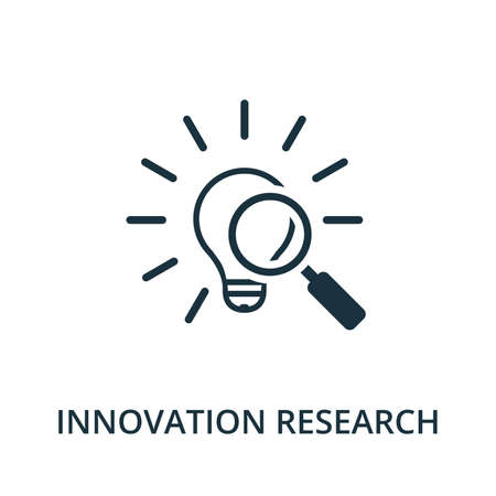 Innovation Research icon from reputation management collection. Simple line element innovation research symbol for templates, web design and infographics.
