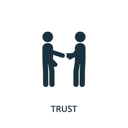 Trust icon from reputation management collection. Simple line element trust symbol for templates, web design and infographics. Ilustracja