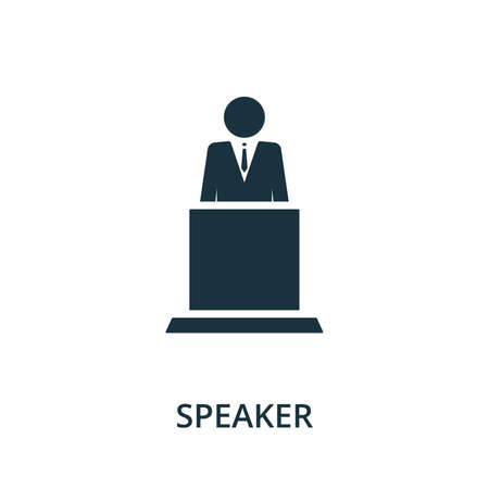 Speaker icon from reputation management collection. Simple line element speaker symbol for templates, web design and infographics.
