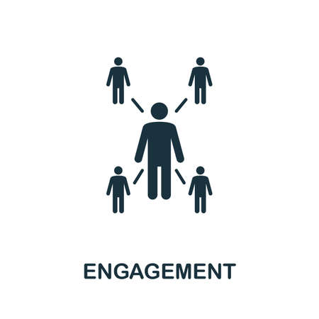Engagement icon. Simple element from community management collection. Filled Engagement icon for templates, infographics and more