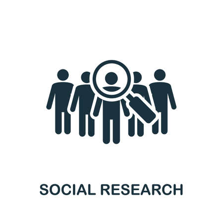 Social Research icon. Simple element from community management collection. Filled Social Research icon for templates, infographics and more