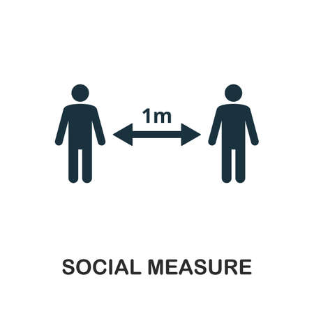 Social Measure icon. Simple element from community management collection. Filled Social Measure icon for templates, infographics and more