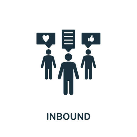 Inbound icon. Simple element from community management collection. Filled Inbound icon for templates, infographics and more
