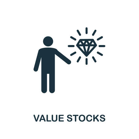 Value Stocks icon. Simple element from community management collection. Filled Value Stocks icon for templates, infographics and more
