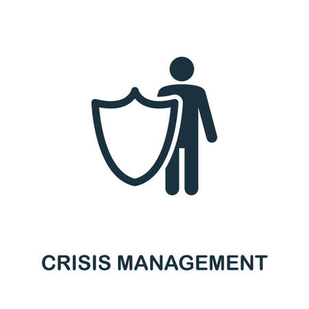 Crisis Management icon. Simple element from community management collection. Filled Crisis Management icon for templates, infographics and more