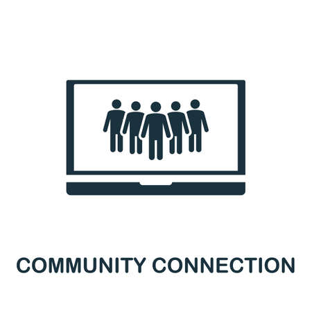 Community Connection icon. Simple element from community management collection. Filled Community Connection icon for templates, infographics and more