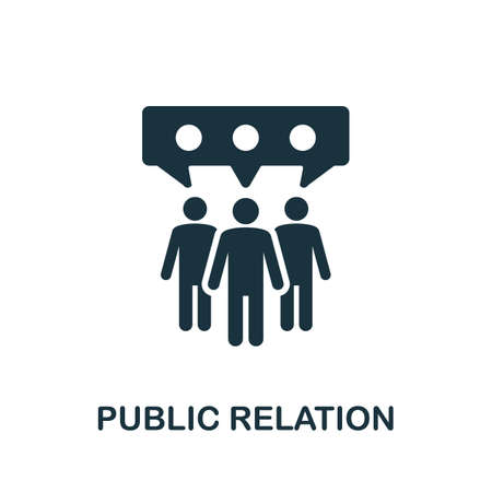 Public Relation icon. Simple element from community management collection. Filled Public Relation icon for templates, infographics and more Ilustração