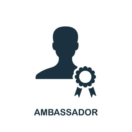 Ambassador icon. Simple element from community management collection. Filled Ambassador icon for templates, infographics and more