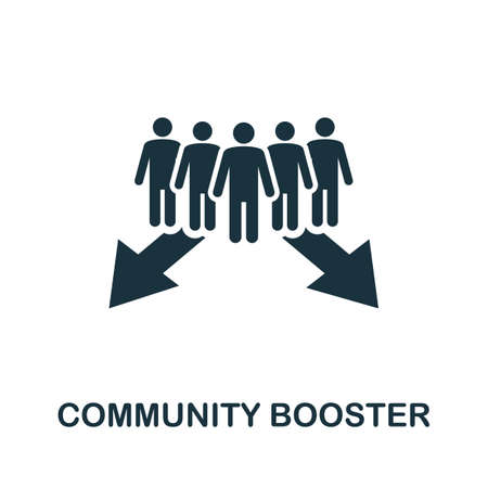 Community Booster icon. Simple element from community management collection. Filled Community Booster icon for templates, infographics and more