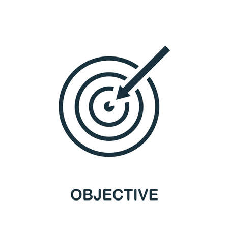 Objective icon. Simple element from community management collection. Filled Objective icon for templates, infographics and more