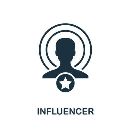 Influencer icon. Simple element from community management collection. Filled Influencer icon for templates, infographics and more Ilustração