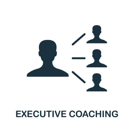 Executive Coaching icon. Simple element from community management collection. Filled Executive Coaching icon for templates, infographics and more