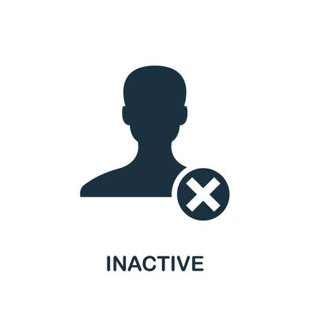 Inactive icon. Simple element from community management collection. Filled Inactive icon for templates, infographics and more Ilustração