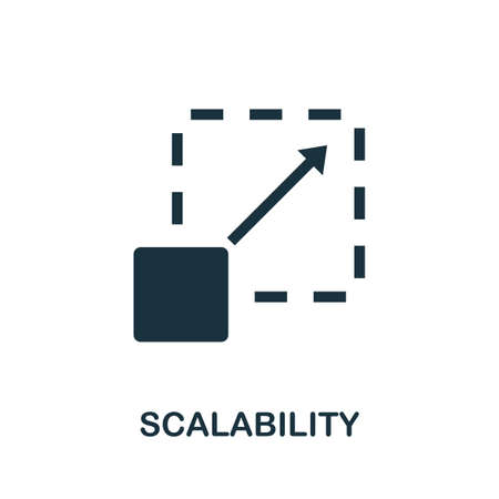 Scalability icon. Simple element from community management collection. Filled Scalability icon for templates, infographics and more Ilustração