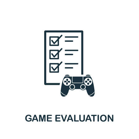 Game Evaluation icon. Simple element from game development collection. Filled Game Evaluation icon for templates, infographics and more