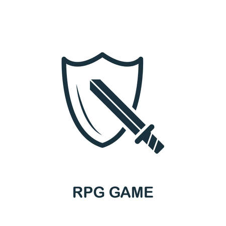 Rpg Game icon. Simple element from game development collection. Filled Rpg Game icon for templates, infographics and more