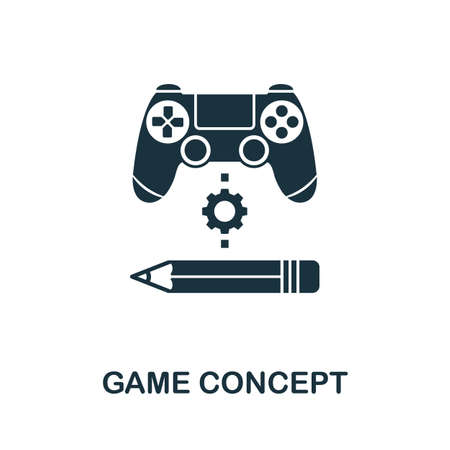 Game Concept icon. Simple element from game development collection. Filled Game Concept icon for templates, infographics and more