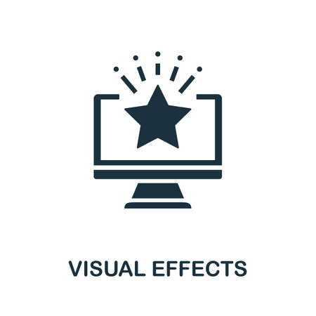 Visual Effects icon. Simple element from game development collection. Filled Visual Effects icon for templates, infographics and more