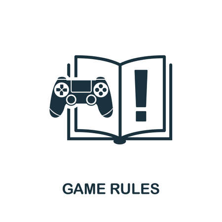Game Rules icon. Simple element from game development collection. Filled Game Rules icon for templates, infographics and more