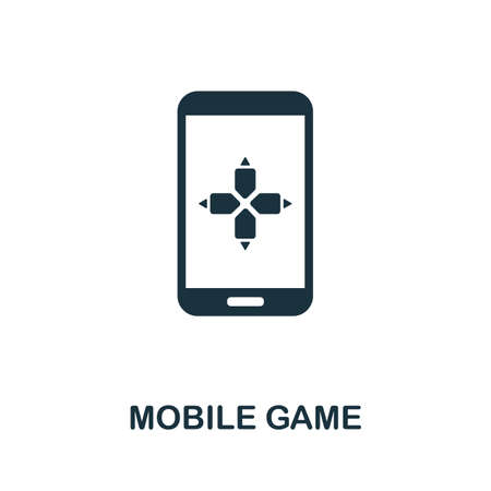 Mobile Game icon. Simple element from game development collection. Filled Mobile Game icon for templates, infographics and more