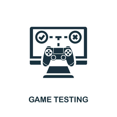 Game Testing icon. Simple element from game development collection. Filled Game Testing icon for templates, infographics and more 免版税图像 - 155448654