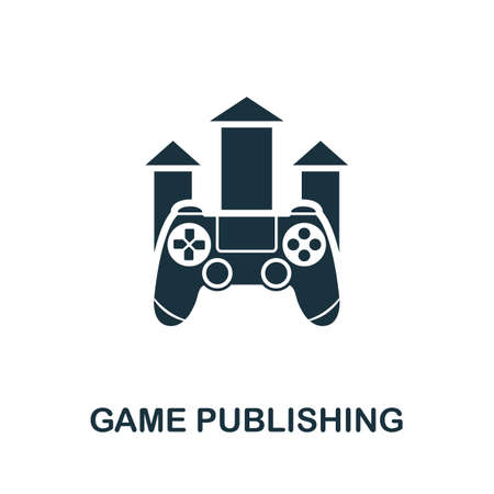 Game Publishing icon. Simple element from game development collection. Filled Game Publishing icon for templates, infographics and more
