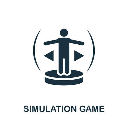 Simulation Game icon. Simple element from game development collection. Filled Simulation Game icon for templates, infographics and more