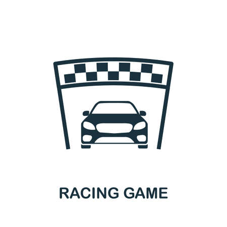 Racing Game icon. Simple element from game development collection. Filled Racing Game icon for templates, infographics and more 免版税图像 - 153169989