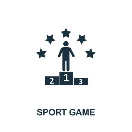 Sport Game icon. Simple element from game development collection. Filled Sport Game icon for templates, infographics and more Ilustração