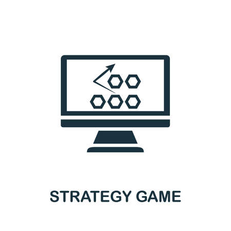 Strategy Game icon. Simple element from game development collection. Filled Strategy Game icon for templates, infographics and more