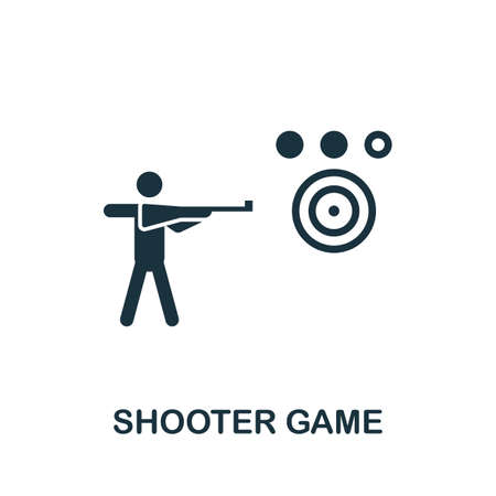 Shooter Game icon. Simple element from game development collection. Filled Shooter Game icon for templates, infographics and more Ilustração