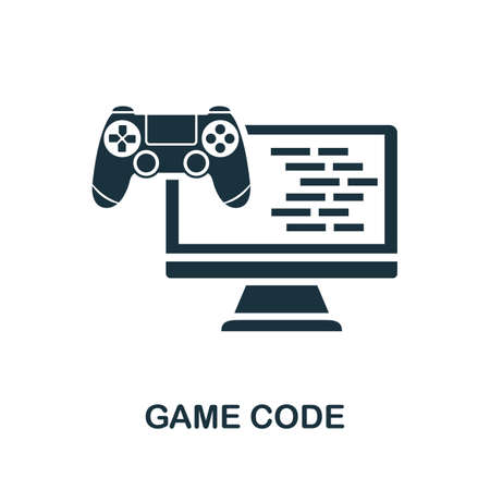 Game Code icon. Simple element from game development collection. Filled Game Code icon for templates, infographics and more