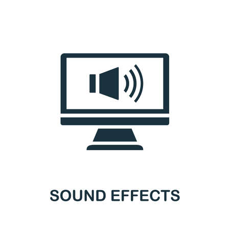 Sound Effects icon. Simple element from game development collection. Filled Sound Effects icon for templates, infographics and more Ilustração