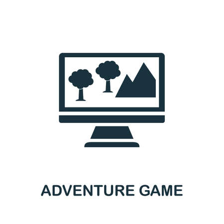 Adventure Game icon. Simple element from game development collection. Filled Adventure Game icon for templates, infographics and more