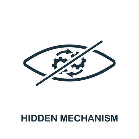 Hidden Mechanism icon. Simple element from business technology collection. Filled Hidden Mechanism icon for templates, infographics and more