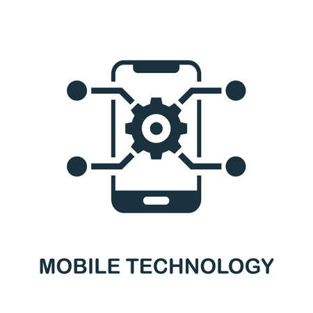 Mobile Technology icon. Simple element from business technology collection. Filled Mobile Technology icon for templates, infographics and more