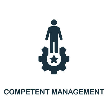 Competent Management icon. Simple element from business technology collection. Filled Competent Management icon for templates, infographics and more Ilustração