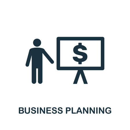Business Planning icon. Simple element from business technology collection. Filled Business Planning icon for templates, infographics and more Ilustração