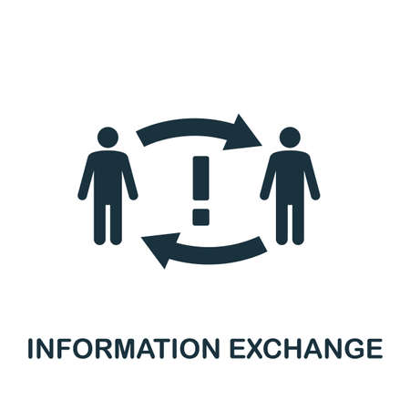 Information Exchange icon. Simple element from business technology collection. Filled Information Exchange icon for templates, infographics and more