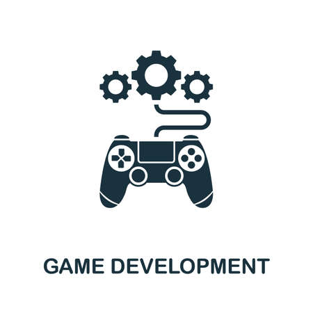 Game Development icon. Simple creative element. Filled Game Development icon for templates, infographics and more