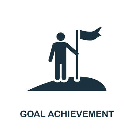 Goal Achievement icon. Simple element from business technology collection. Filled Goal Achievement icon for templates, infographics and more